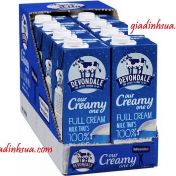 Sữa tươi Devondale Full Cream 1L – Thùng xanh to.