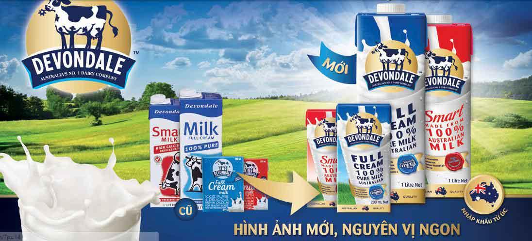 sữa tươi devondale dạng bột