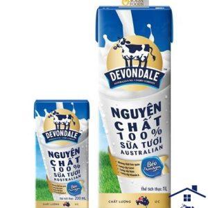 Sữa tươi Devondale Full Cream 200ml – Thùng xanh nhỏ.
