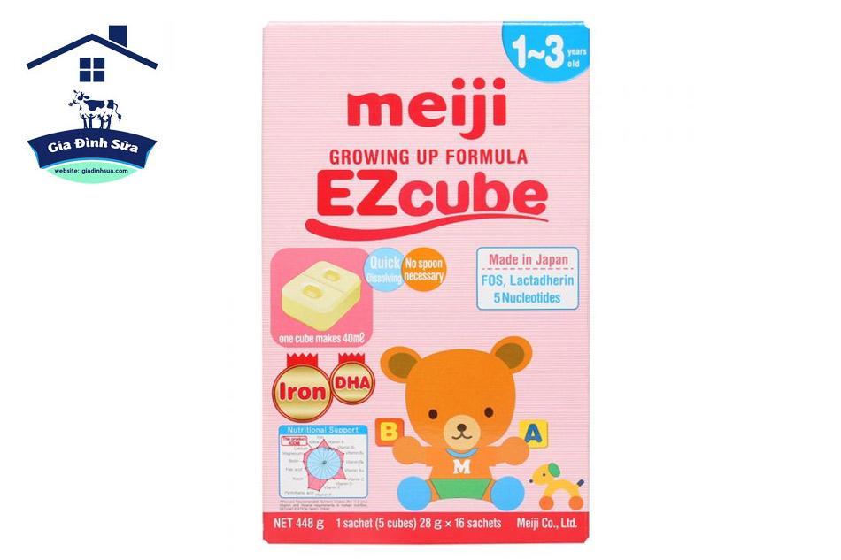 Sữa Meiji Growing Up Formula EZcube 448g (1 - 3 tuổi)