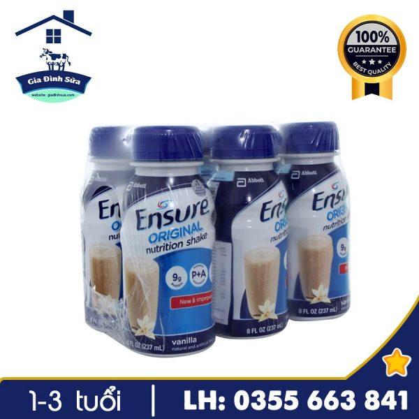 Sữa nước Ensure Original 237ml có tốt không? Giá bán - Gia Đình Sữa