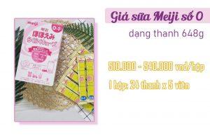 Sữa Meiji số 0 dạng thanh 648g có giá thành hợp lí với chất lượng