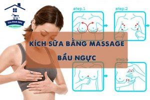 Cách kích sữa bằng massage bầu ngực