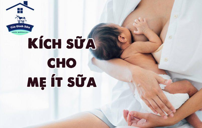 Các chuyên gia chỉ ra rằng nuôi con bằng sữa mẹ là liệu pháp đúng đắn và an toàn nhất cho trẻ. Do vậy trong nhiều tình huống mẹ ít sữa không đủ cho con bú là vấn đề nan giải.