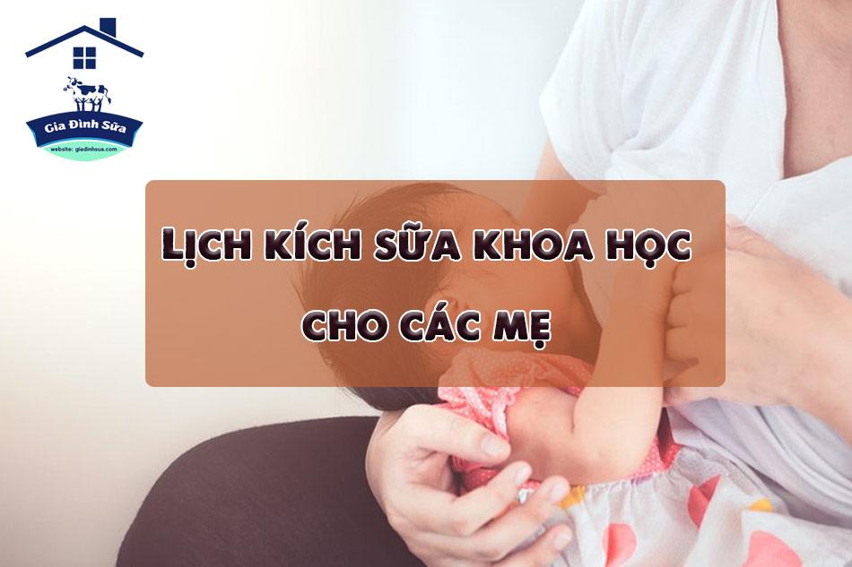 Lịch kích sữa khoa học dành cho các mẹ