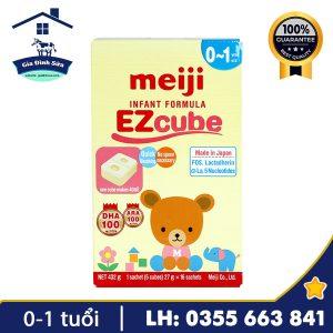 Sữa Meiji Infant Formula EZcube 432g dành cho trẻ 0-1 tuổi