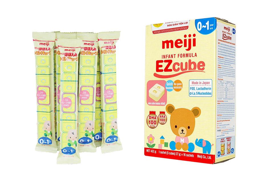 Sữa Meiji Infant Formula EZcube là dòng sữa bột có nguồn gốc nội địa Nhật dành cho trẻ từ 0 -1 tuổi.