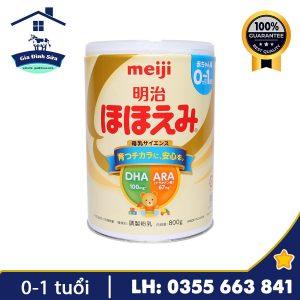 Sữa Meiji số 0 800g dành cho trẻ từ 0-1 tuổi – Gia Đình Sữa