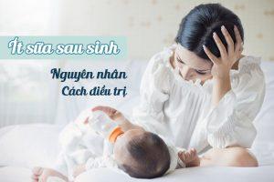 Mẹ bầu ít sữa sau sinh phải làm sao?