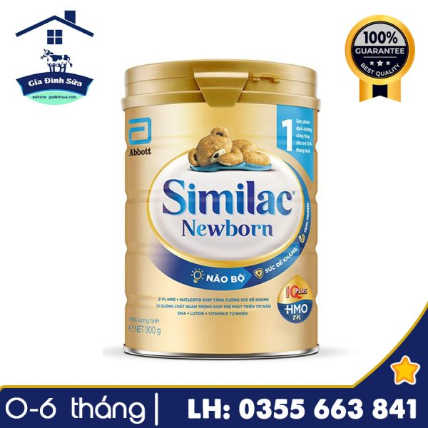 Sữa Similac Newborn IQ HMO số 1 (900g) cho trẻ từ 0-6 tháng tuổi