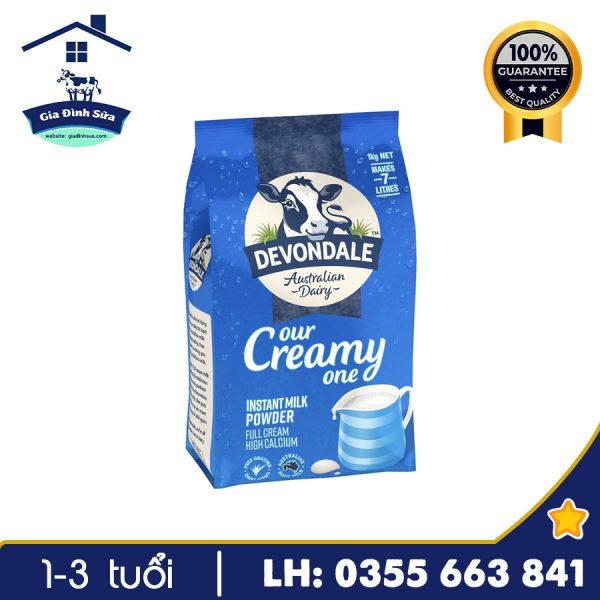 Sữa bột Devondale Full Cream với hương vị thơm ngon, dễ uống giúp bổ xung canxi và nhiều khoáng chất tốt